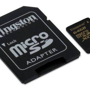 Kingston 64 GB Micro SD kaart - SD-Kaart.nl