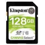 Kingston SDXC 128GB Canvas - SD-Kaart.nl