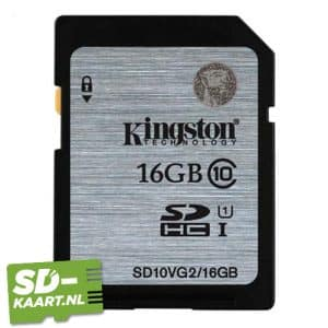 sd kaart Kingston SDHC 16GB geheugenkaart 1