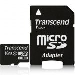 Transcend Micro SDHC 16GB geheugenkaart