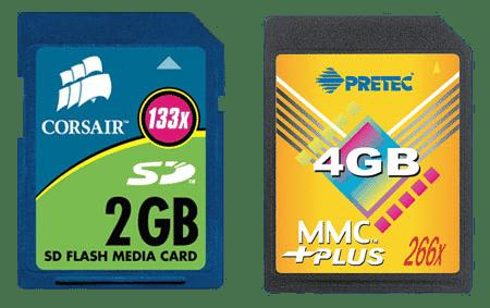 SD kaart en MMC Kaart verschil