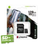 Kingston Micro SD kaart Canvas Select-128GB-3-adapter