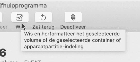 SD kaart formateren mac 2