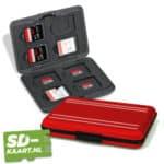 SD-kaart en micro SD kaart houder Rood 1