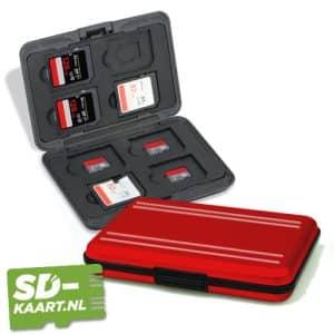 SD kaart en micro SD kaart houder Rood 1