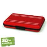 SD-kaart en micro SD kaart houder Rood