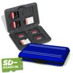 SD-kaart en micro SD kaart houder blauw 1