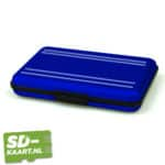 SD-kaart en micro SD kaart houder blauw