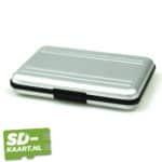 SD-kaart en micro SD kaart houder zilver