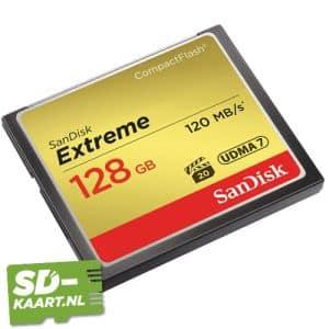 Sandisk Extreme CompactFlash kaart 128GB 2