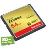 Sandisk Extreme CompactFlash kaart 64GB 2