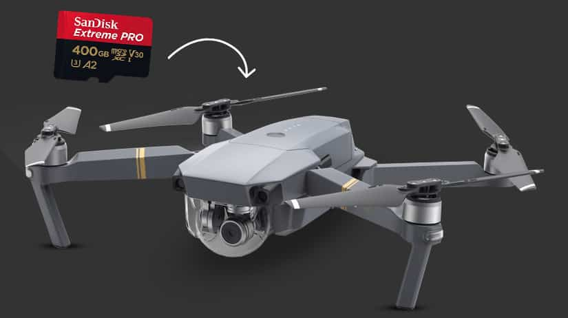 SD kaart voor drones klein